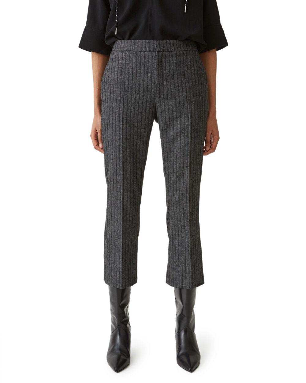 Note Trousers Grey Stripe
