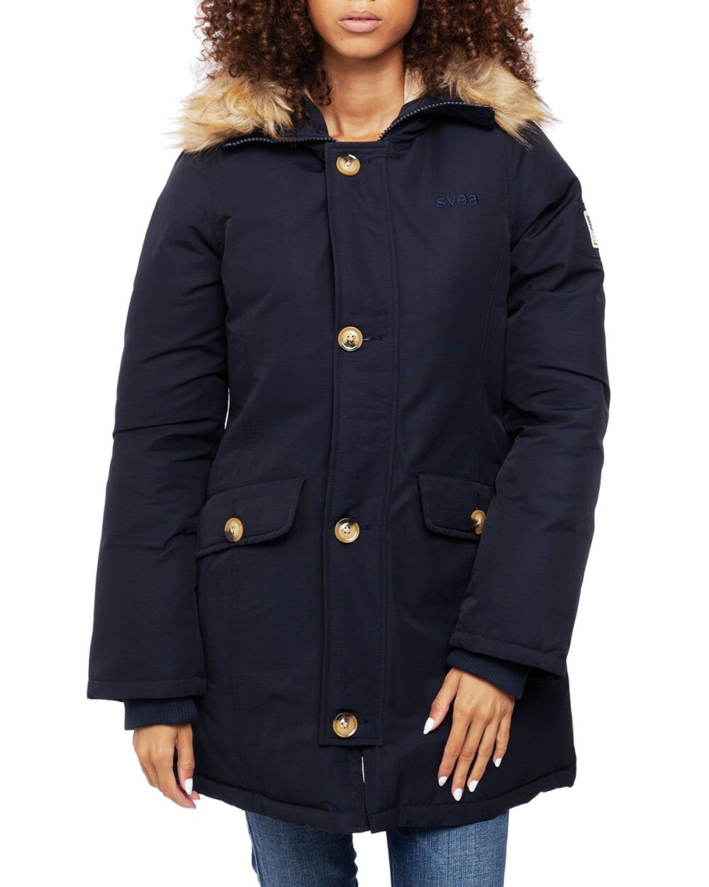 Svea Miss Smith Jacket Navy Vinterjakker På Zoovillage