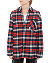 Acne Studios Salak Flannel Face Red/navy