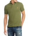 Polo Ralph Lauren Custom Slim Fit Mesh Polo Supply Olive