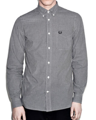 Fred Perry Classic gingham l/s shirt M6377 black 102