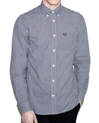 Fred Perry Classic gingham l/s shirt M6377 medieval blue 126