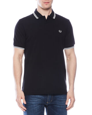 Fred Perry M3600 Twin Tipped Polo Shirt Black/Porcelain/Porcelain