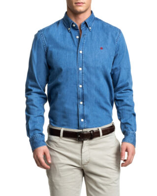 Morris Cary grant denim light blue shirt