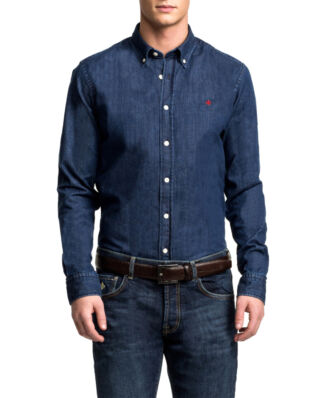 Morris Cary grant denim navy shirt