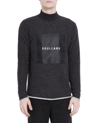 Soulland Ripped Turtleneck Black W.Slubs