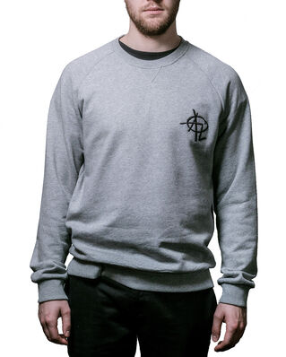 Above Love Ruglan Sweatshirt Grey Melange