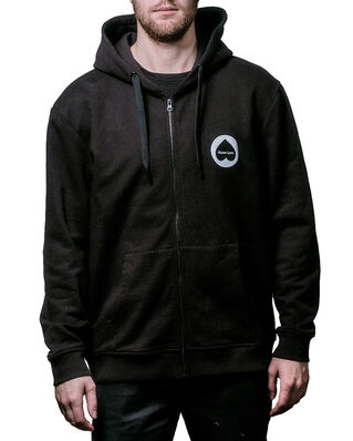 Above Love Zip Hoodie Logo Black