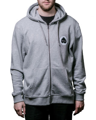 Above Love Zip Hoodie Logo Grey Melange
