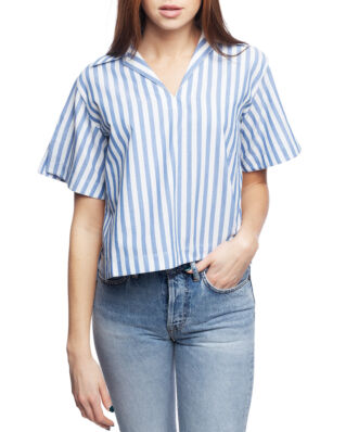 Acne Studios Boxy Striped Shirt Blue/White