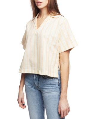 Acne Studios Boxy Striped Shirt Yellow/White