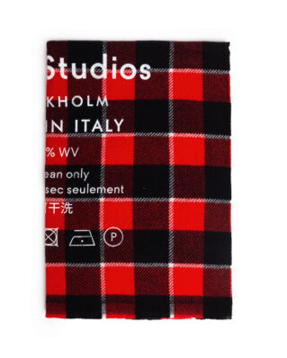 Acne Studios Cassiar Check Red/Black