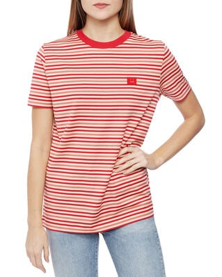 Acne Studios Ellison Stripe Face Poppy Red