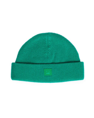 Acne Studios Kansy Face Beanie Bright Green
