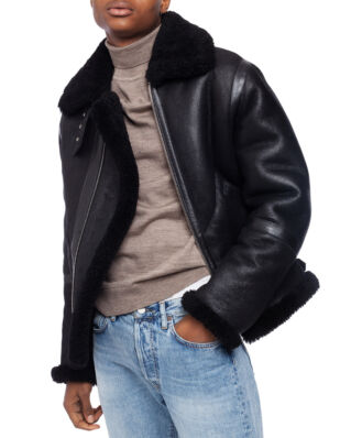 Acne Studios Ian Shearling Black