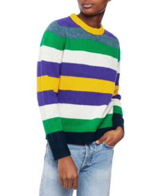 Acne Studios Kai Seasonal Stripe Wool Green Multicolor
