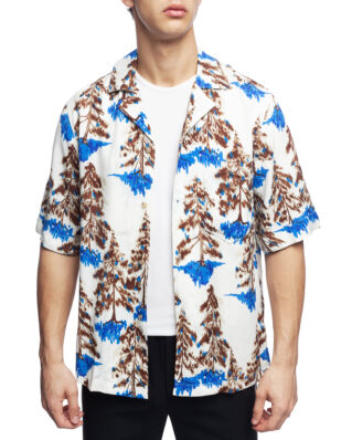 Acne Studios Print Shirt White/Brown