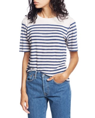Acne Studios Striped Linen T-shirt White/Blue