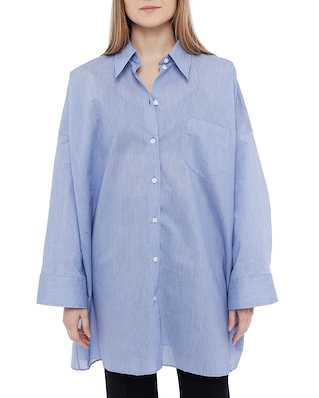 Acne Studios Suky Cotton Po Powder Blue