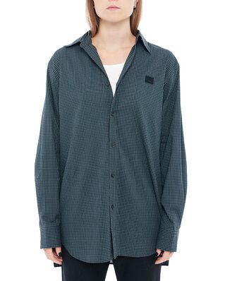 Acne Studios Saco Micro Check Face Navy Blue