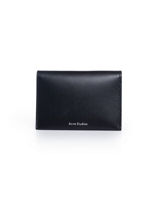 Acne Studios Card holder flap Black