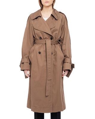 Acne Studios Cotton Trench Coat Light Brown