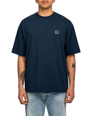 Acne Studios Exford Face T-Shirt Navy/Sparkle