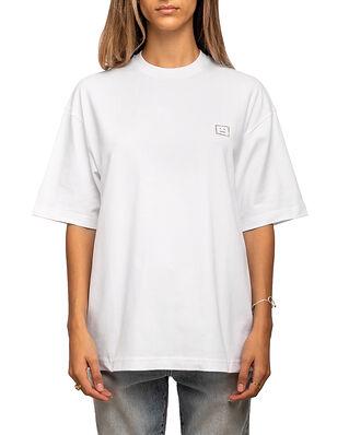 Acne Studios Exford Face T-Shirt Optic White/Sparkle