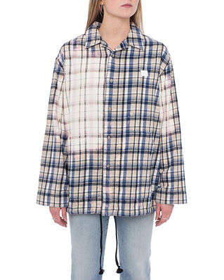Acne Studios Face Flannel Overshirt Oat Beige / Blue