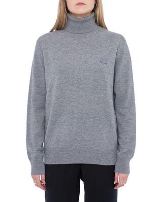 Acne Studios Face Polo Sweater Grey Melange