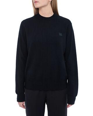 Acne Studios Kalon Face Crew Sweater Black