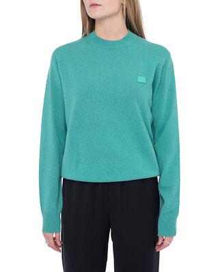 Acne Studios Kalon Face Crew Sweater Jade Green