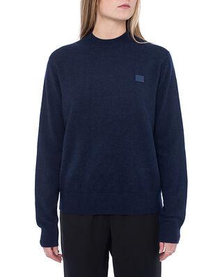 Acne Studios Kalon Face Crew Sweater Navy