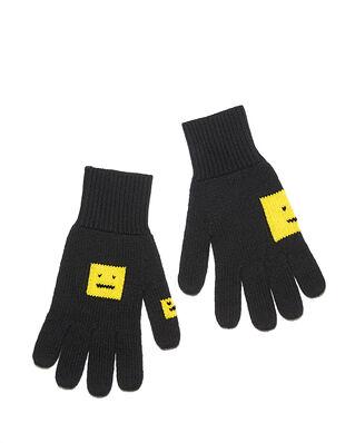 Acne Studios Keanu Face Gloves Black/Yellow