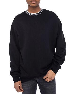 Acne Studios Logo Rib Sweatshirt Black