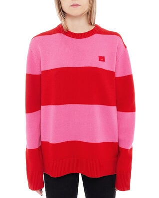 Acne Studios Nimah Block Stripe Red/Bubblegum Pink