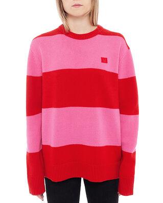 Acne Studios Nimah Block Stripe Red/Bubblegum Pink