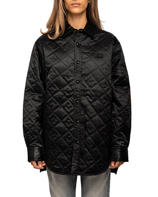 Acne Studios Saco Quilted Shirt Jacket Black