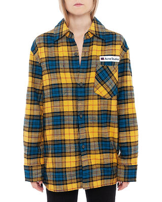 Acne Studios Salak Flannel PC Face Yellow/Black