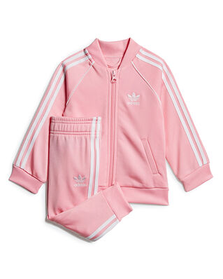 Adidas Junior Sst Tracksuit Ltpink/White