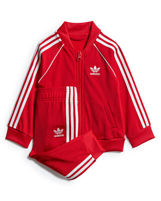 Adidas Junior Sst Tracksuit Scarle/White