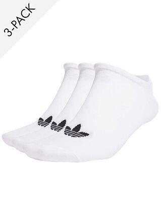adidas 3-Pack Trefoil Liner Socks White