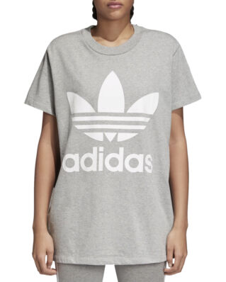 Adidas Big Trefoil Tee Medium Grey Heather