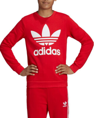 Adidas Junior Trefoil Crew Scarle/White