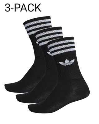 Adidas Solid Crew Sock Black/White
