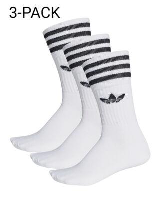 Adidas Solid Crew Sock White/Black
