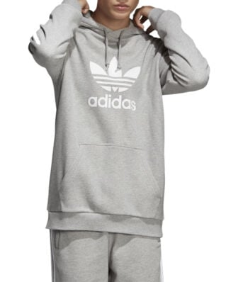 Adidas Trefoil Hoodie Medium Grey Heather