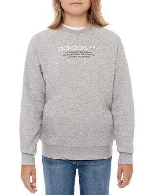 adidas Crew Sweatshirt Medium Grey Heather