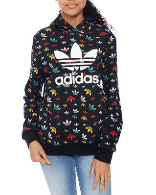 Adidas Junior Hoodie Black/Multico/White