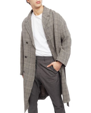 ADNYM Atelier Paw Belt Coat Clay Check